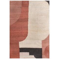 Kilombo Home 21st Century Modern Handwoven Jute Carpet Rug  in Terracotta Colors