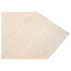 Kilombo Home 21st Century Modern Handwoven Wool Rug Spike Ivory
