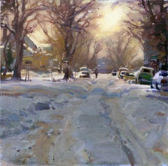 """Capitol Hill Snow"", Oil Painting"
