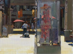 """""""Downtown Fashions"""", Oil Painting"""