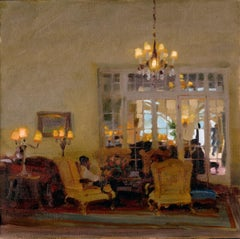 """""""Guests of the Estate"""", Oil Painting"""