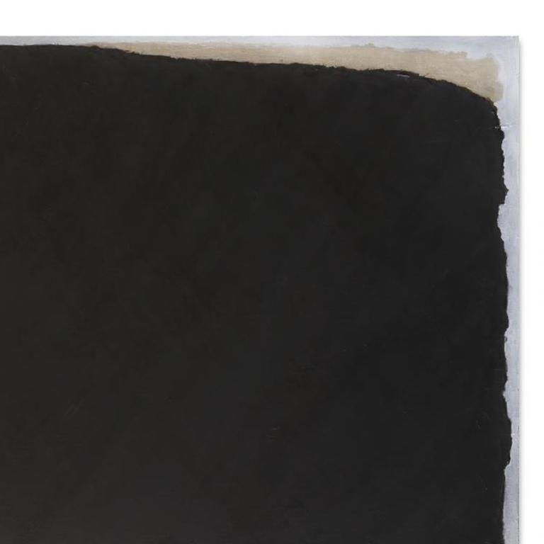 TILT NERO C - Contemporary Painting by Kim Fonder
