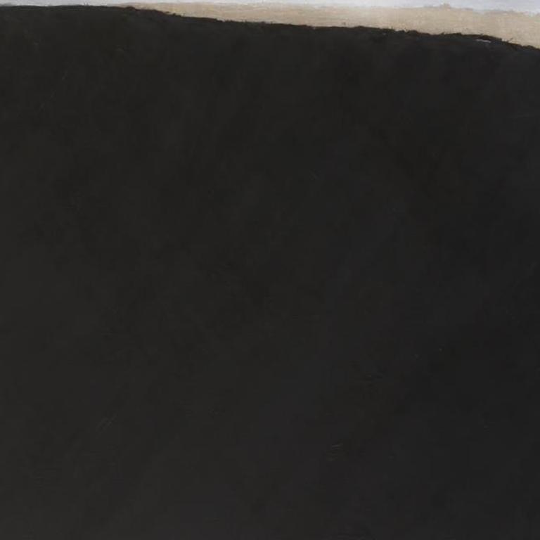 TILT NERO C - Black Abstract Painting by Kim Fonder
