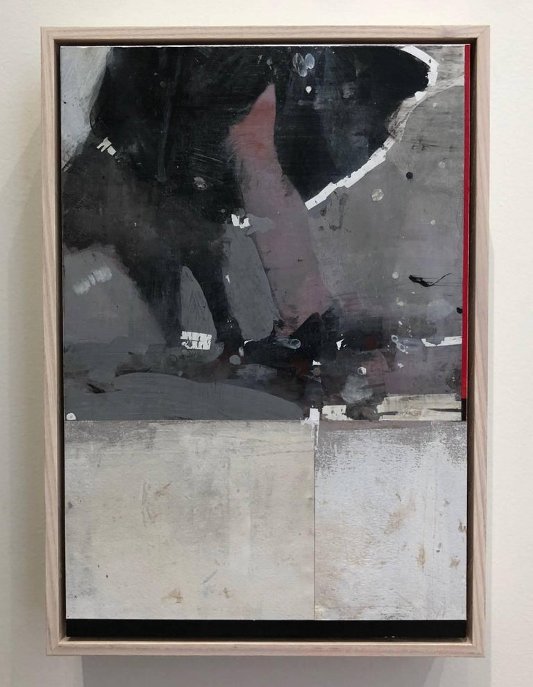 Swing Out Sister! / mixed media: acrylic, assemblage  - Painting by Kim Frohsin