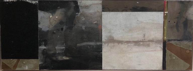 Kim Frohsin Abstract Painting - Tapping Along the Faultline / mixed media: acrylic, assemblage