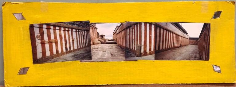 Shravan Belagola, India, 1992, Photo Prints on Cardboard, Collage, Mirror Insets - Photograph by Kim MacConnel