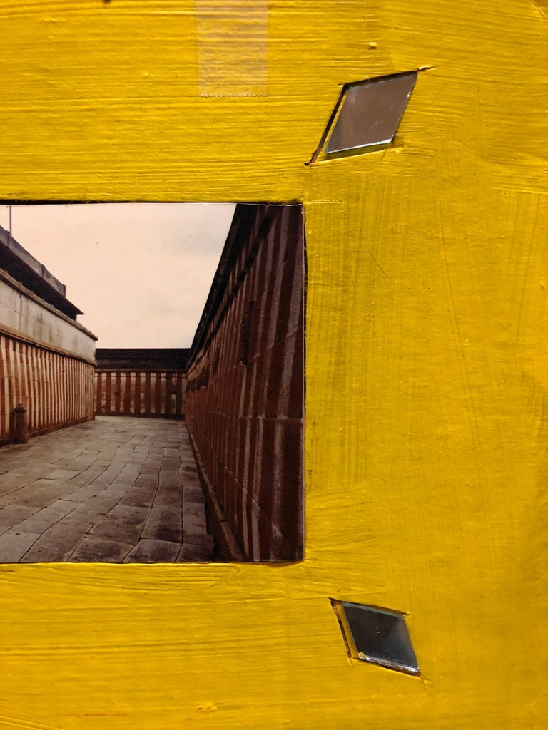 Shravan Belagola, India, 1992, Photo Prints on Cardboard, Collage, Mirror Insets - Contemporary Photograph by Kim MacConnel