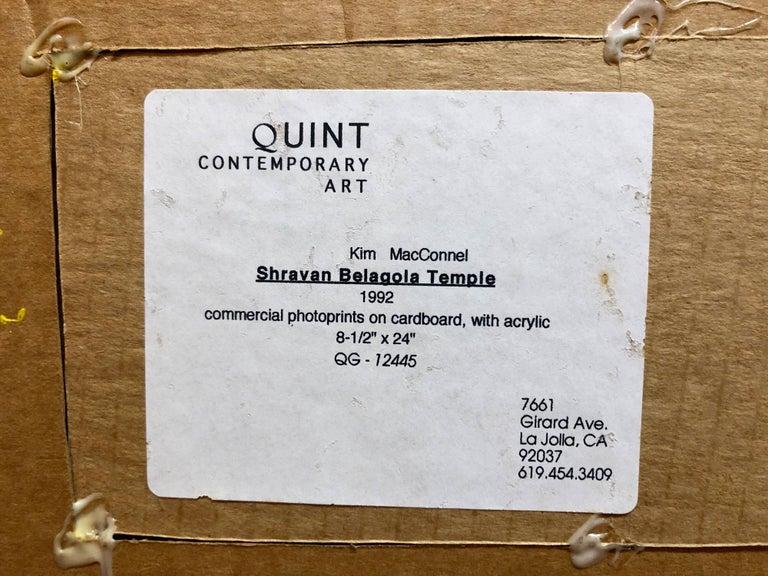 Shravan Belagola, India, 1992, Photo Prints on Cardboard, Collage, Mirror Insets For Sale 2
