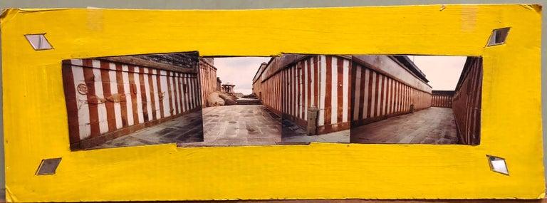 Kim MacConnel Figurative Photograph - Shravan Belagola, India, 1992, Photo Prints on Cardboard, Collage, Mirror Insets