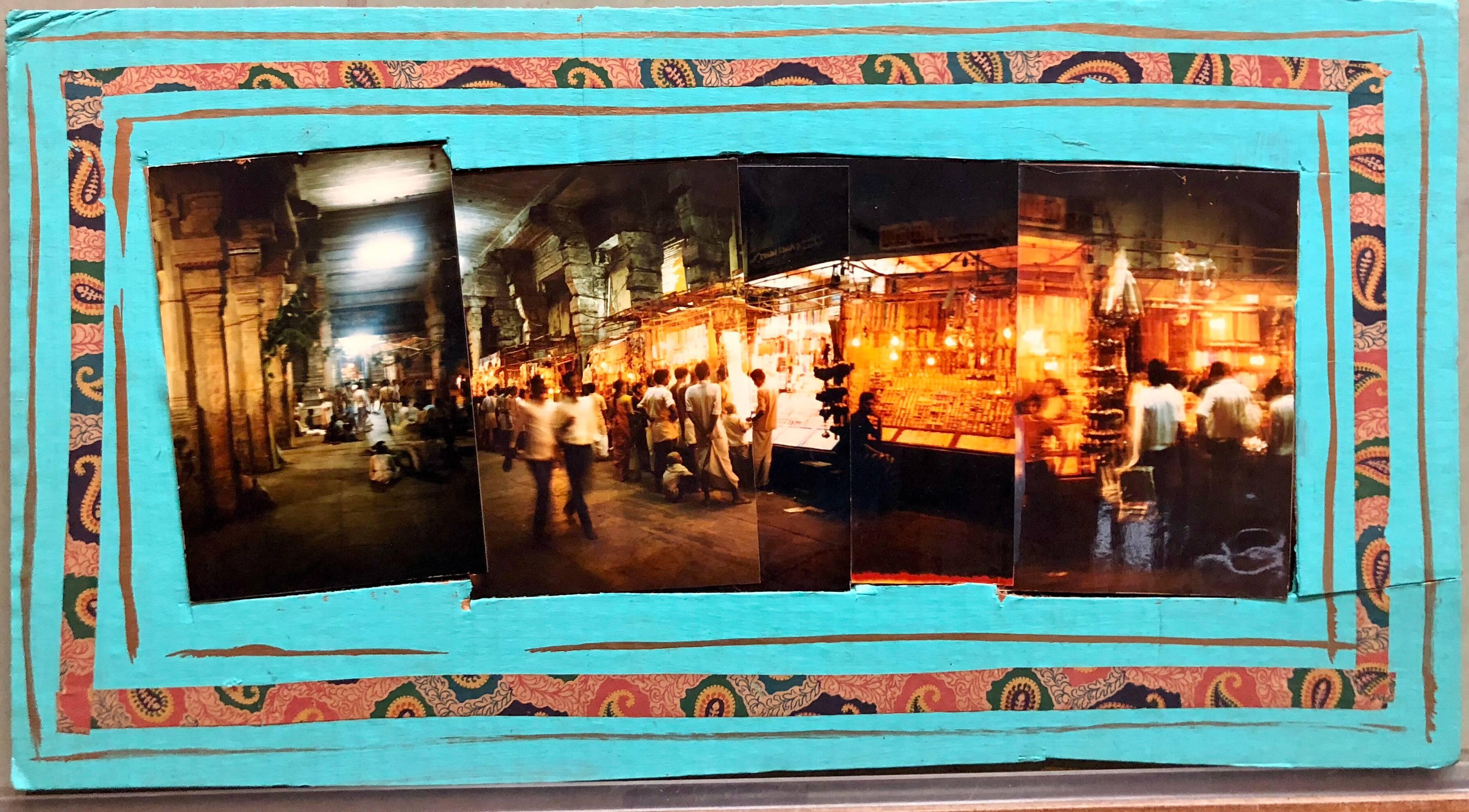 Sri Ranganathanswamy Temple, Trichi, 1992, Photo Prints on Cardboard, Collage
