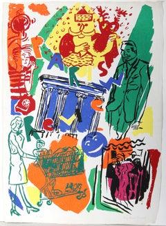"""""""Paris Review"""", Silkcreen by Kim MacConnel"""