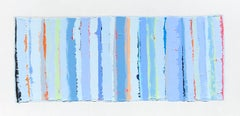 Beaded Beach Towel, 2020, Abstract Painting, Acrylic on Canvas, Signed