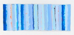 Jeweled Beach Towel, 2020, Abstract Painting, Acrylic on Canvas, Signed