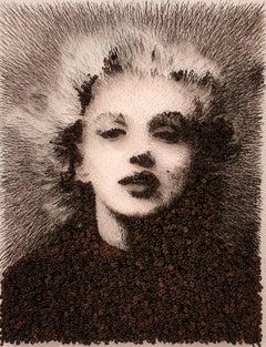 Marilyn Monroe[Black, White, Steel on canvas, Stereoscopic, Portrait, New media]