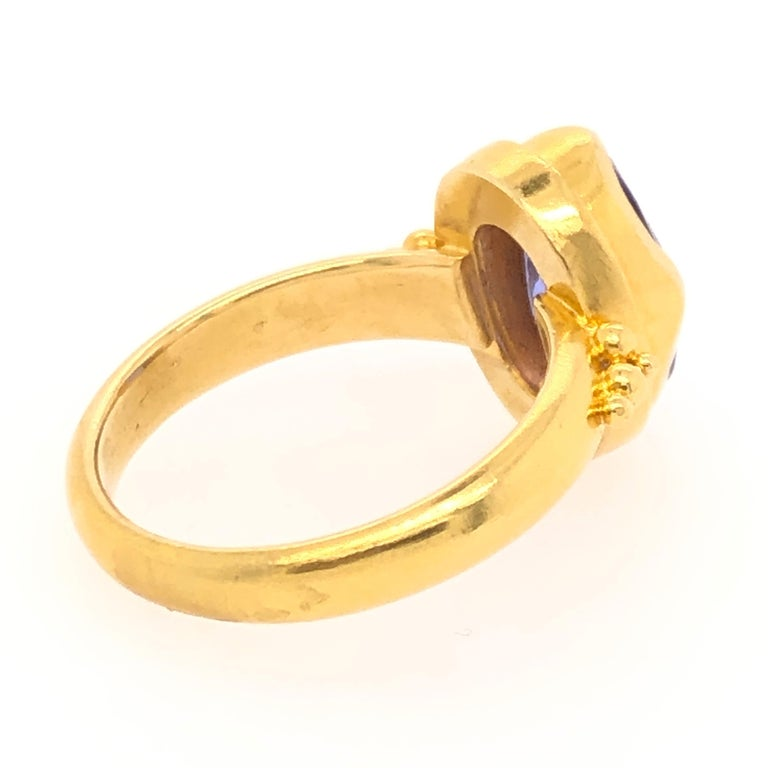 Kimarie Yellow Gold Tanzanite Ring In New Condition For Sale In Dallas, TX