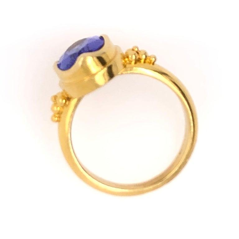 Women's Kimarie Yellow Gold Tanzanite Ring For Sale