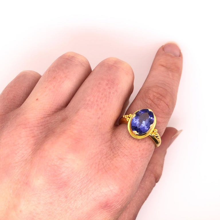 Kimarie Yellow Gold Tanzanite Ring For Sale 1