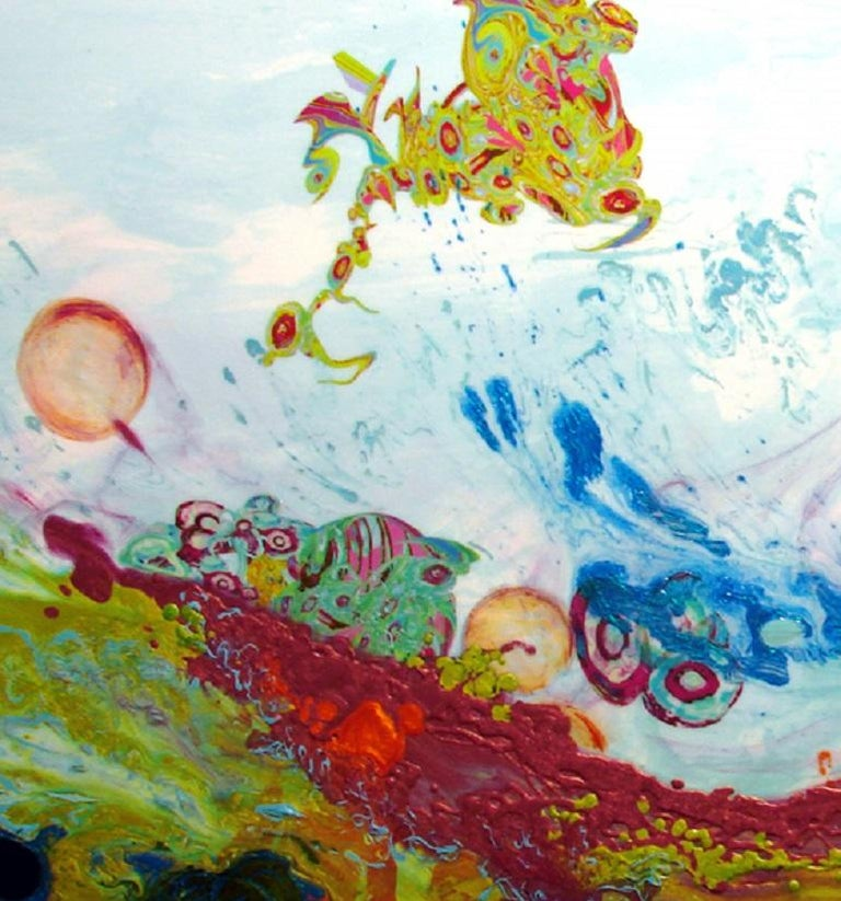 Liquid Landscape 628-060708, Mixed Media, Waterscape - Contemporary Painting by Kimber Berry