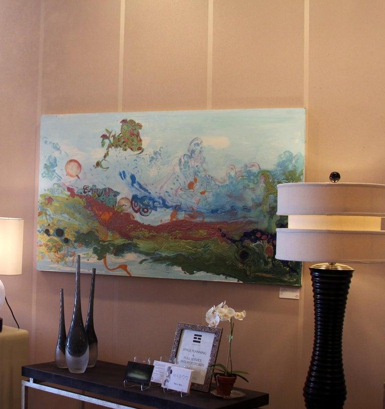 Liquid Landscape 628-060708, Mixed Media, Waterscape For Sale 1