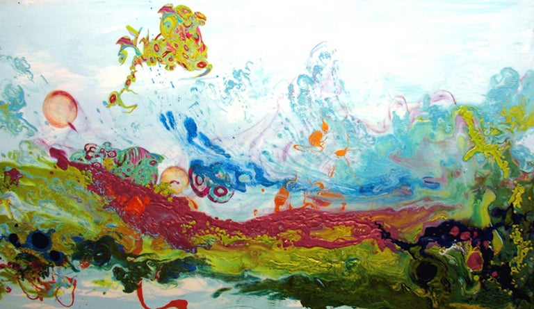 Kimber Berry Abstract Painting - Liquid Landscape 628-060708, Mixed Media, Waterscape