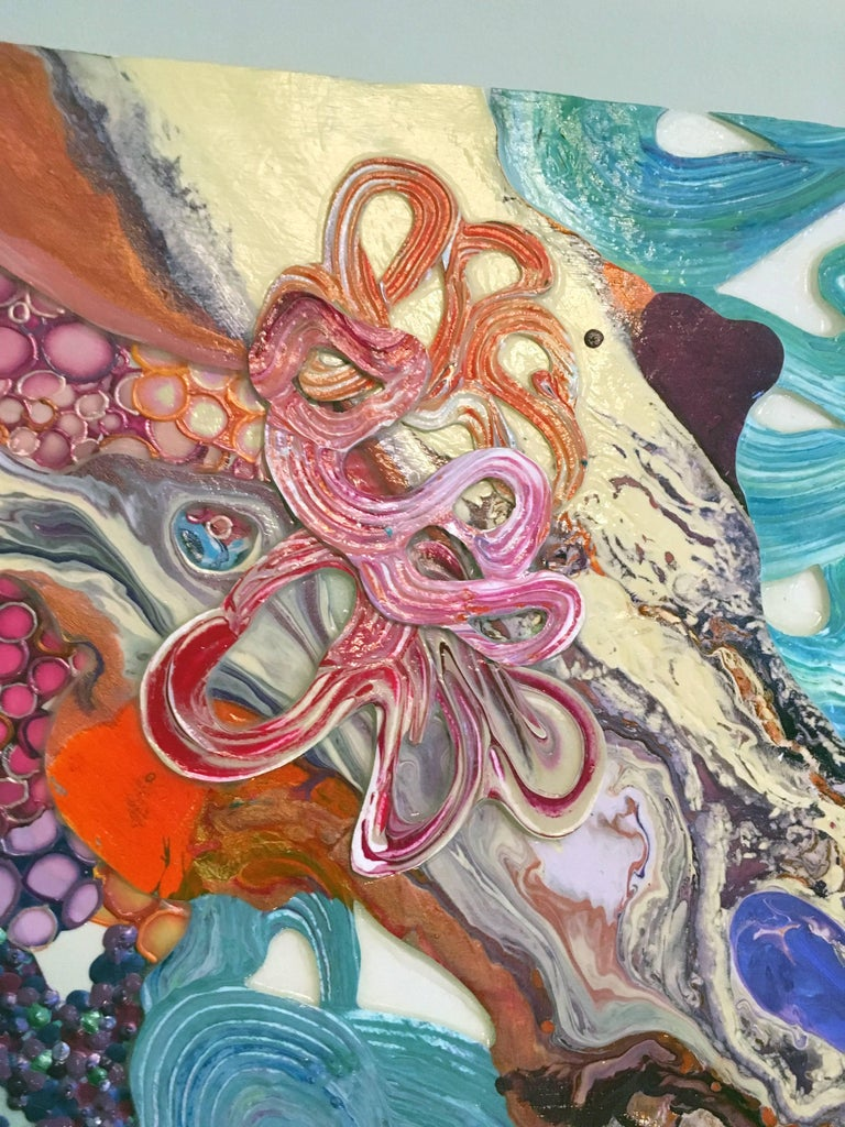 Pixie Dust & Other Magic, Abstract Art , textured, dimensional, colorful For Sale 1