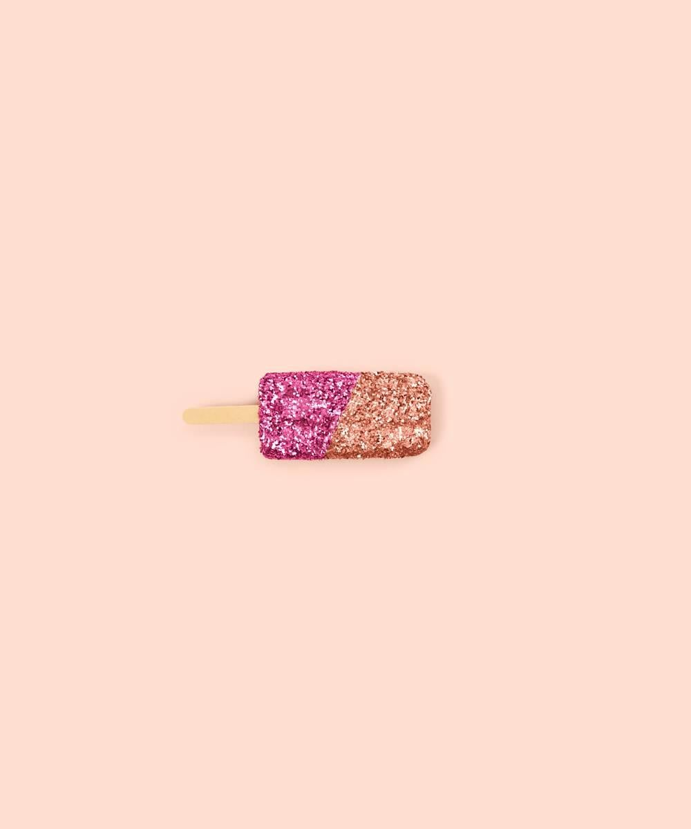 Glitter Ice Cream Pink