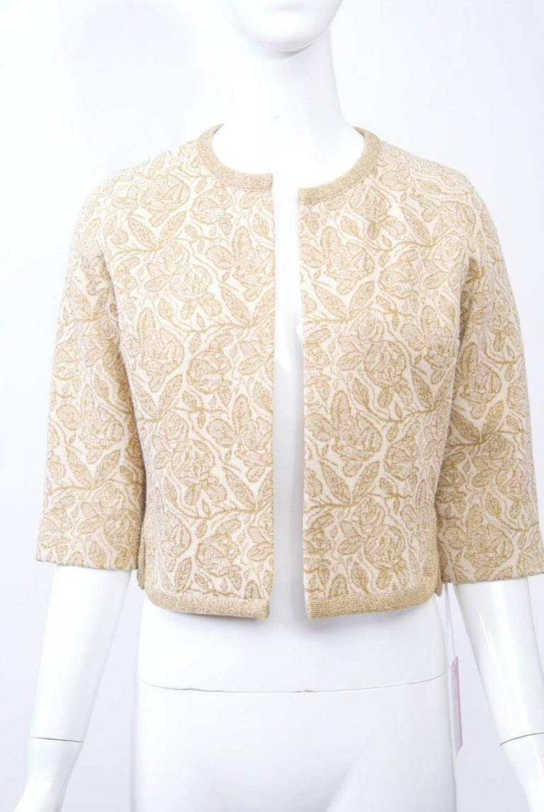 Kimberly Metallic Knit Dress and Jacket For Sale 5