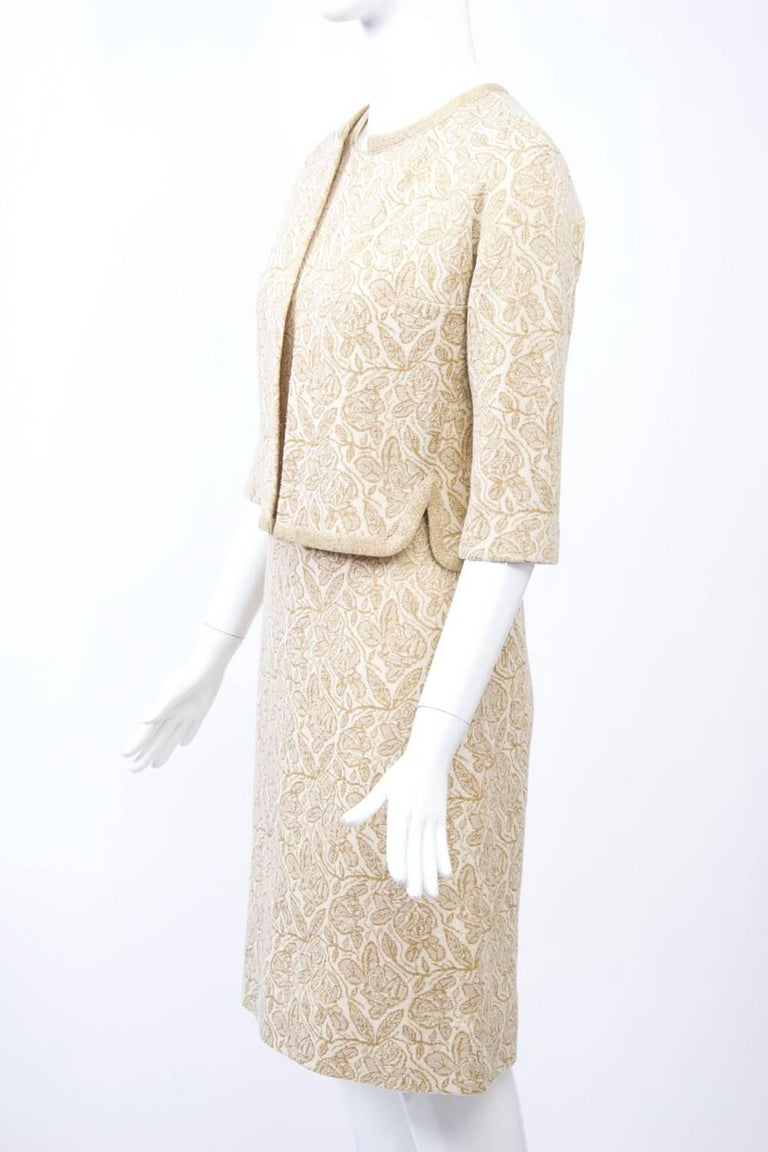 Kimberly Metallic Knit Dress and Jacket In Excellent Condition For Sale In Alford, MA
