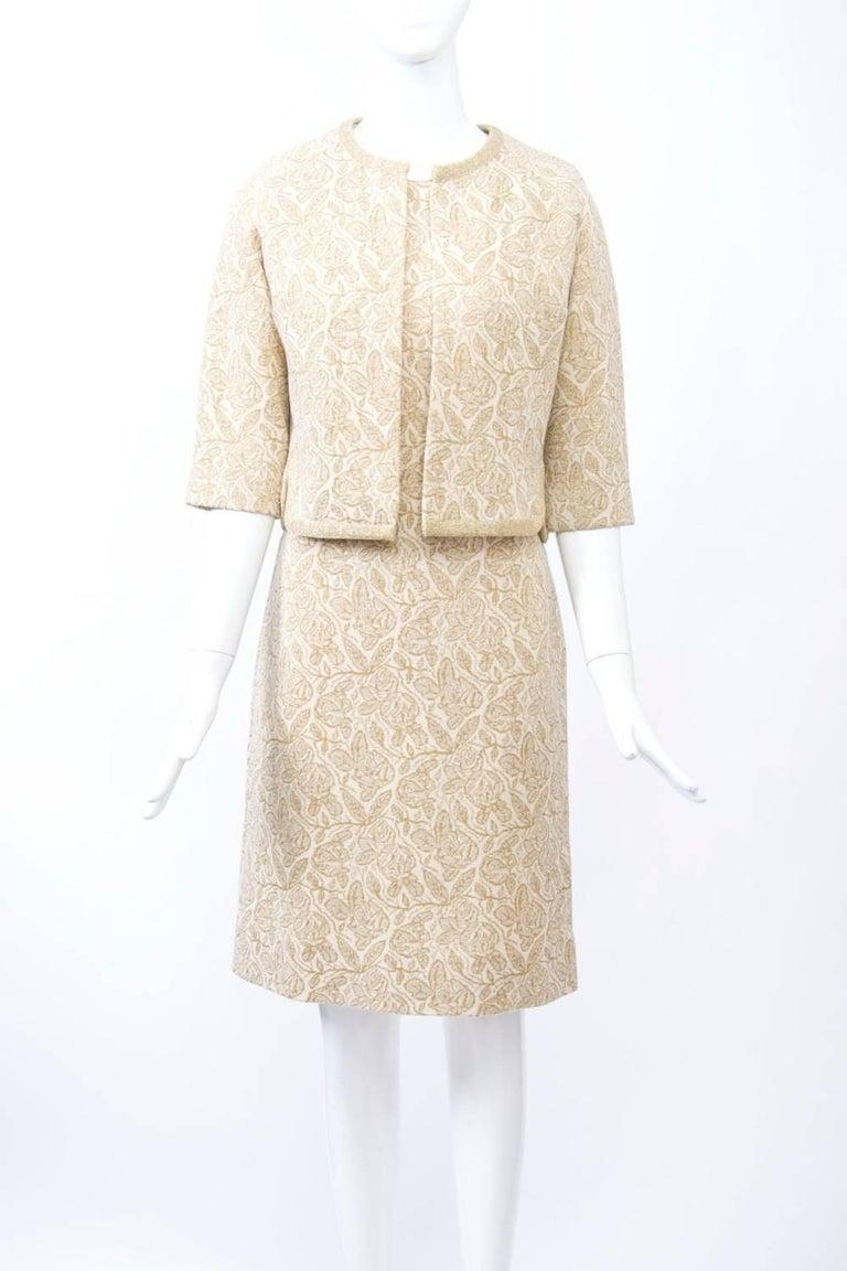 Women's Kimberly Metallic Knit Dress and Jacket For Sale