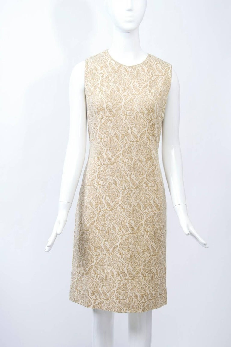 Kimberly Metallic Knit Dress and Jacket For Sale 1