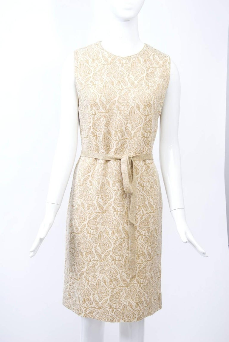Kimberly Metallic Knit Dress and Jacket For Sale 3