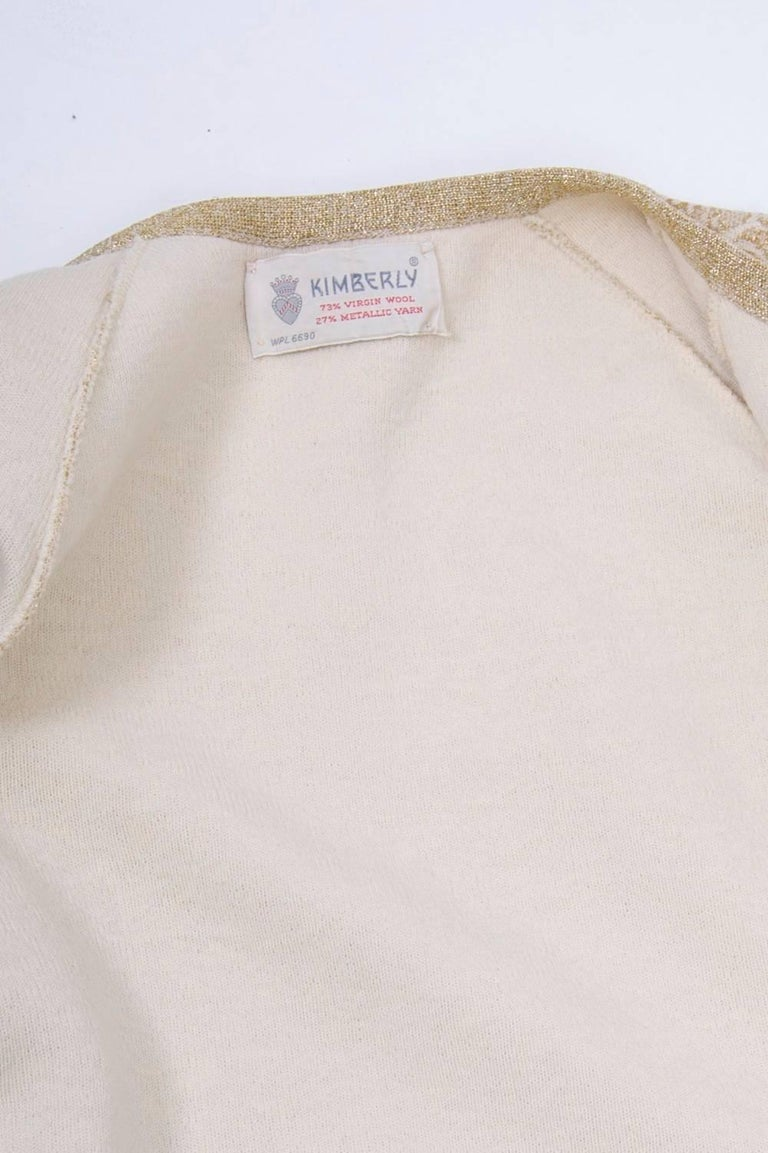 Kimberly Metallic Knit Dress and Jacket For Sale 4