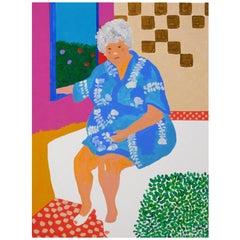 'Kimono Blues' Portrait Painting by Alan Fears Pop Art