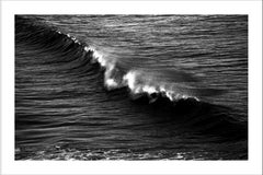 Black and White Seascape of Los Angeles Crashing Wave, Contemporary Photograph