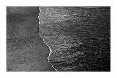 Calm Costa Rica Shore, Extra Large Black and White Giclée Photograph Seascape