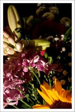 Colorful Flower Bouquet Mix, Summer Light Still Life Giclée Print, Soft Tones