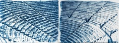Diptych of Ancient Theatre, Multi-panel Cyanotype, Greek and Roman Architecture