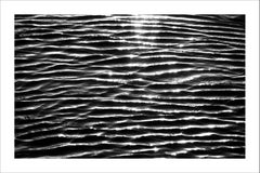Extra Large Black and White Giclée Print of Tranquil Water Patterns, Seascape