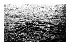 Extra Large Black and White Seascape of Calming Sea Ripples