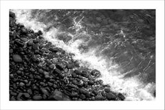 Extra Large Limited Edition Giclée Print of British Pebble Beach, Black & White