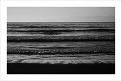 Pacific Beach Horizon, Colossal Seascape in Black and White, Navy Sunset, Classy