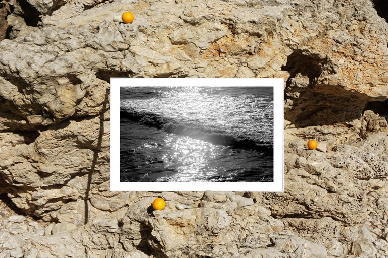 Seascape Black and White Giclée Print, Pacific Sunset Waves, Limited Edition For Sale 3