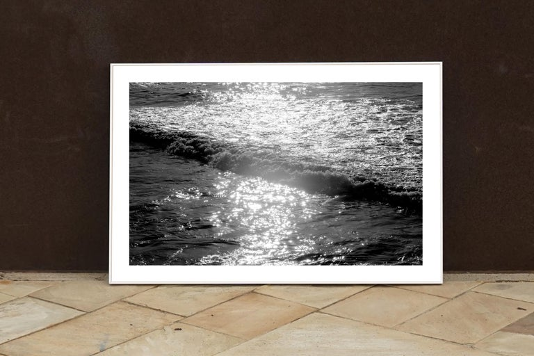 Seascape Black and White Giclée Print, Pacific Sunset Waves, Limited Edition For Sale 4
