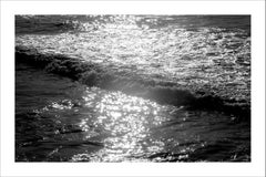Seascape Black and White Giclée Print, Pacific Sunset Waves, Limited Edition