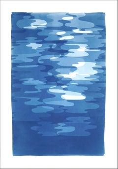 Smoke and Mirrors, Blue Tones Handmade Cyanotype Prints of Reflections, Memphis