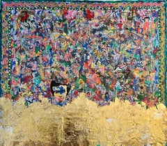 """""""Gold Rush"""" Painting 57"""" x 67"""" inch by Kinda Adly"""