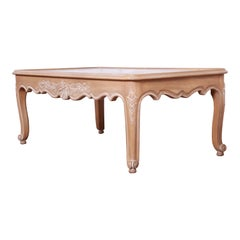 Kindel Furniture Carved French Provincial Louis XV Style Coffee Table