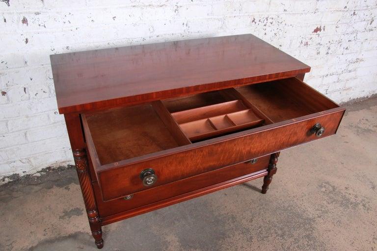 Kindel Furniture Carved Mahogany Chest, Kindel Furniture Used