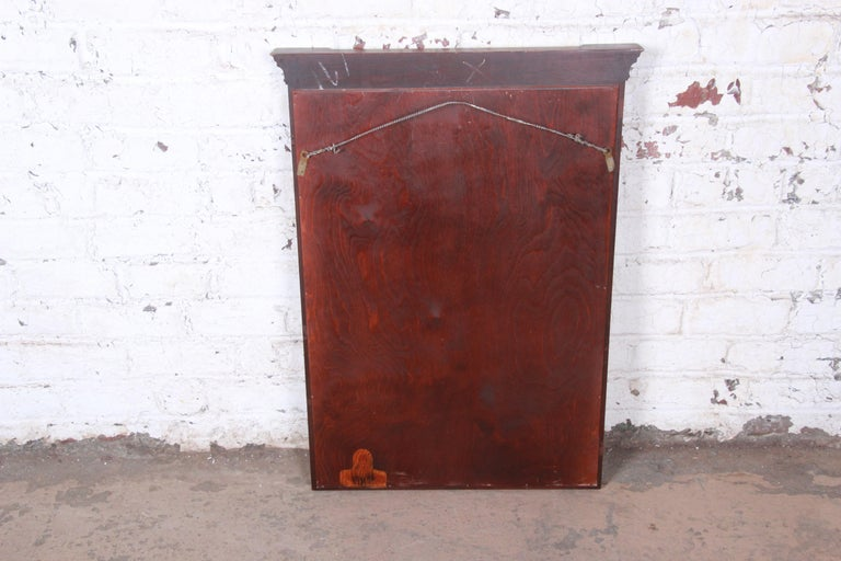 20th Century Kindel Furniture Carved Mahogany Framed Wall Mirror For Sale