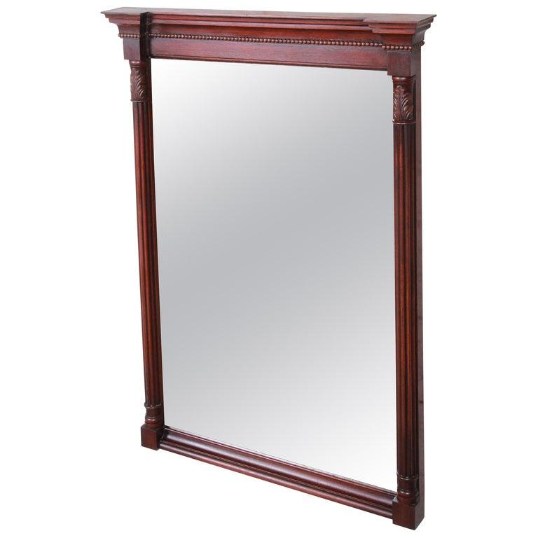 Kindel Furniture Carved Mahogany Framed Wall Mirror For Sale